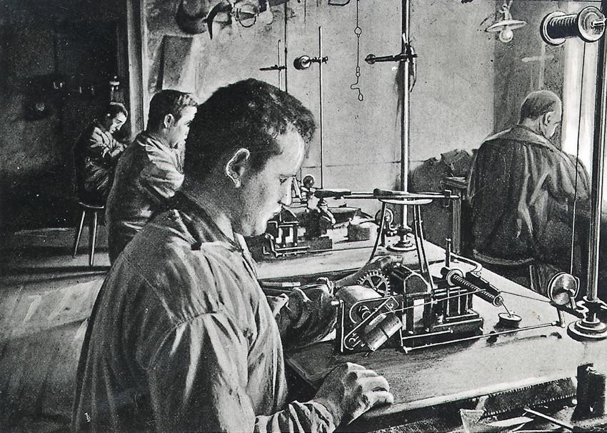 1900 Bosch Werkstatt Arbeiten Magnetzünder