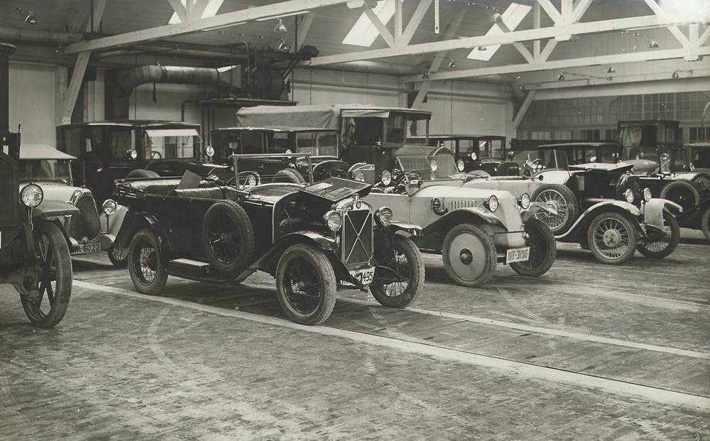 Automobile Autos Bosch Einbauhalle 1907