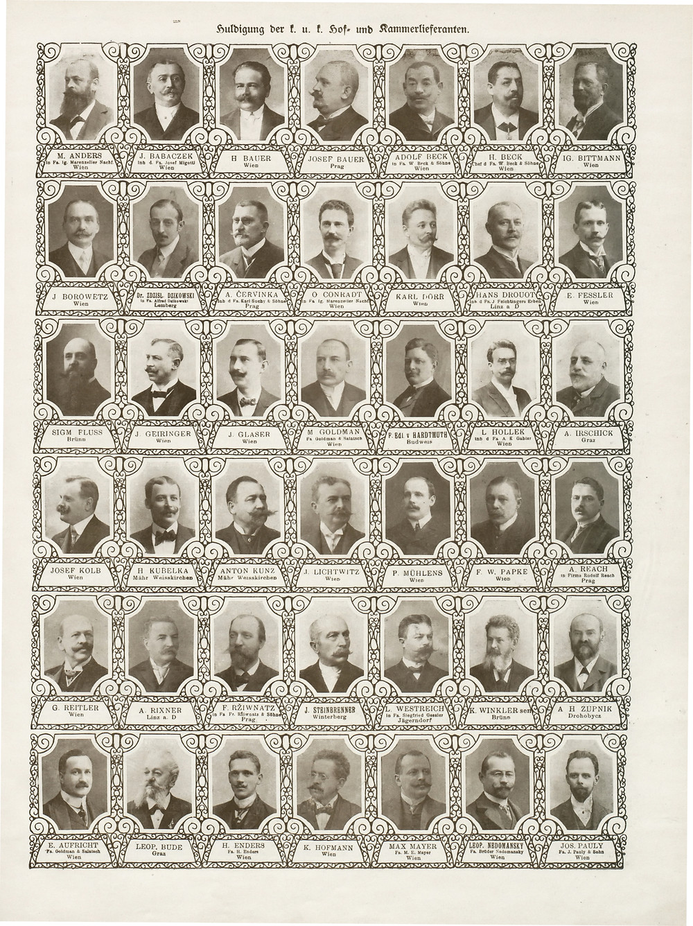 1908 Hoflieferanten Österreich Wien