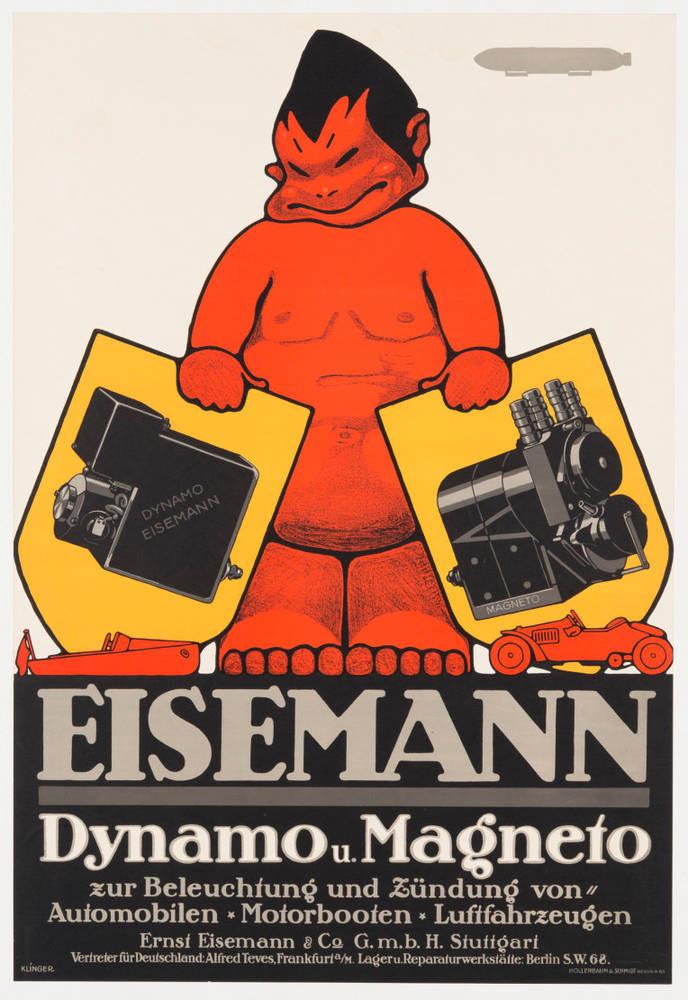 Eisemann Werbeplakat Poster 1910