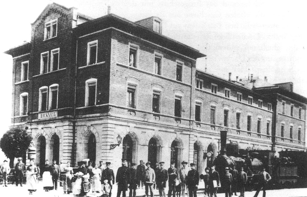 Backnang 1900 Bahnhof