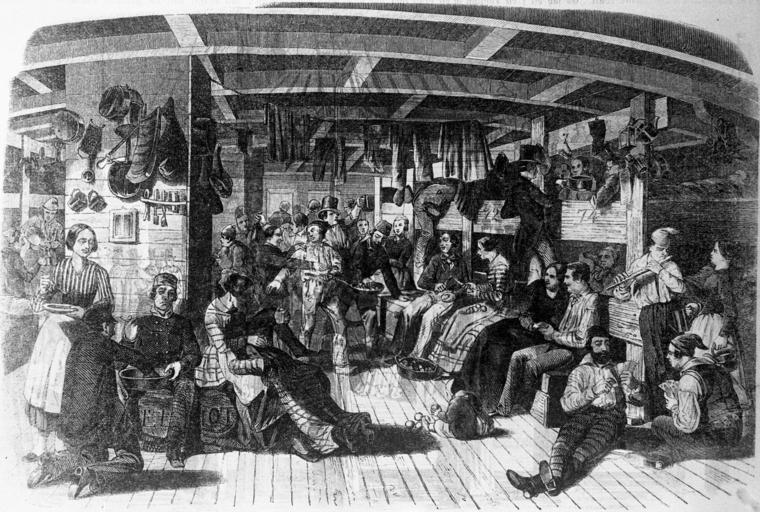 Auswanderung Segelschiff Samual Hoff 1849