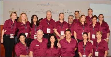 El equipo de Ventas y Mercadotecnia de AMResorts, participante en el Tianguis Turístico 2017