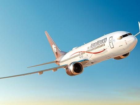 Reporta Aeroméxico incrementos en pasajeros transportados en marzo de 2021
