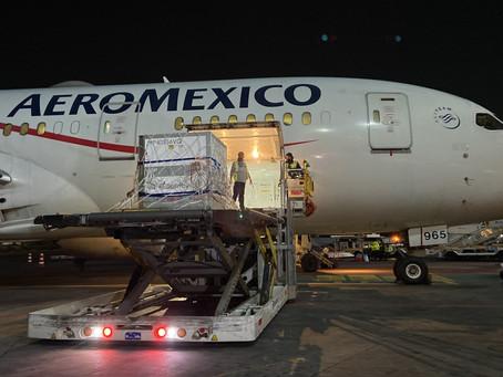 Traslada Aeroméxico de Buenos Aires a CDMX sustancia activa para vacunas