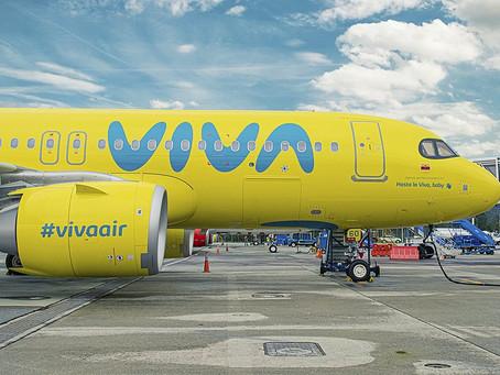 """Inaugura """"Viva"""" vuelo Medellín–Ciudad de México y logra su 4ª ruta internacional en 2021"""
