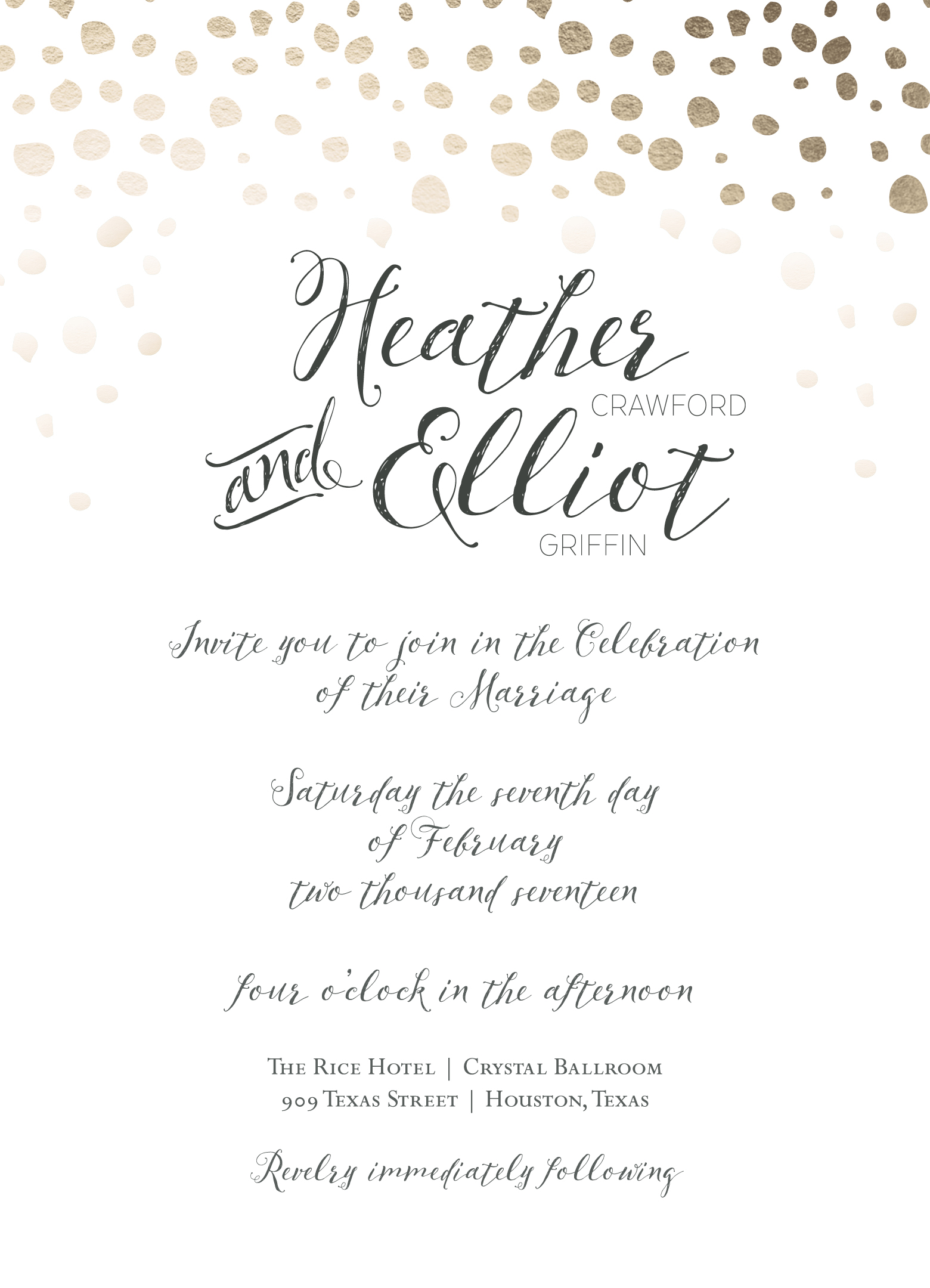 Soiree Wedding Invitation