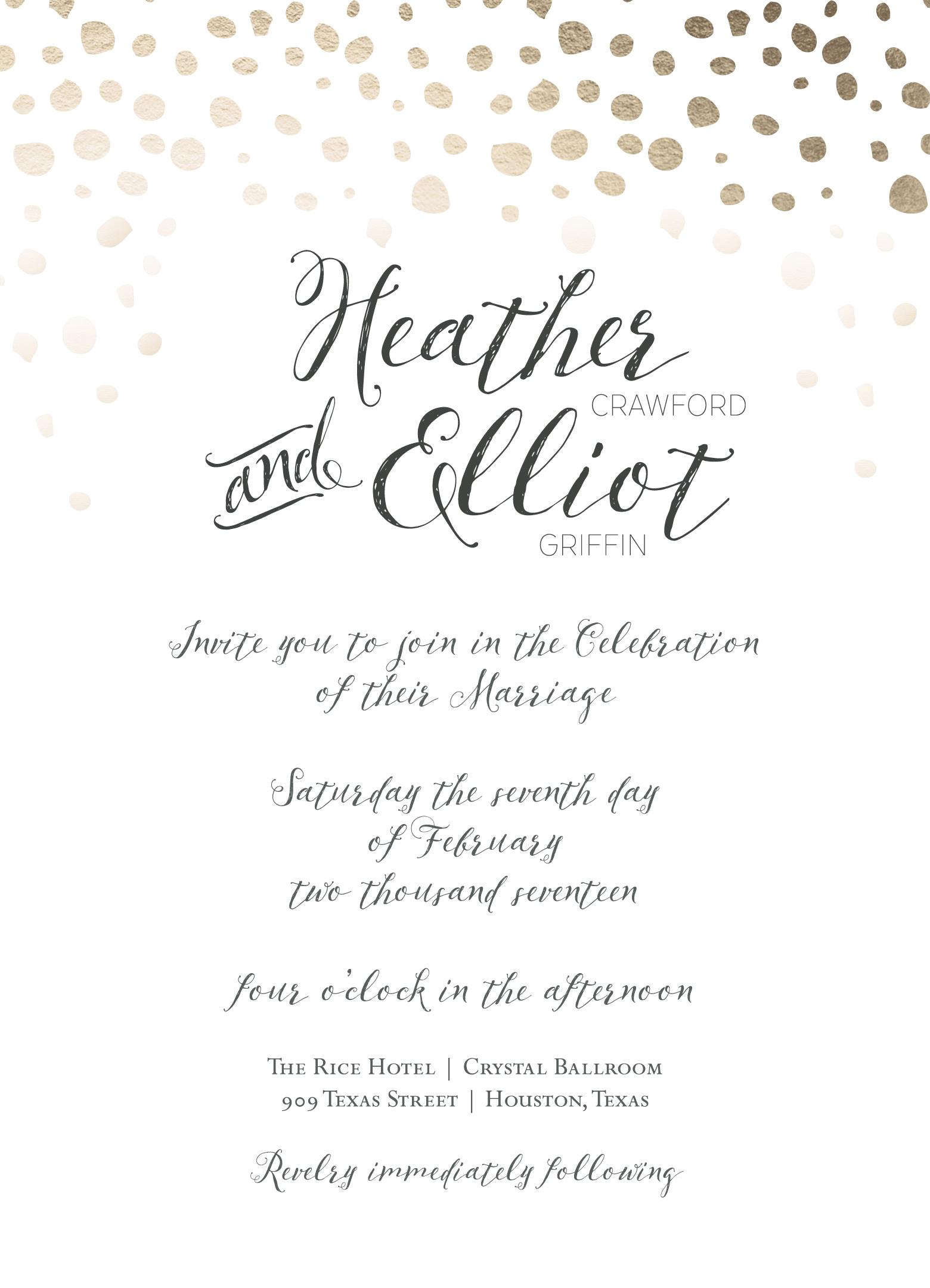 Soiree Wedding Invitation