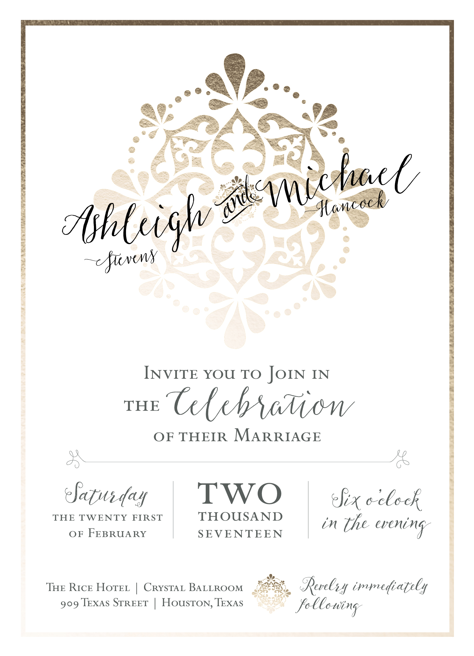 Revelry Wedding Invitation