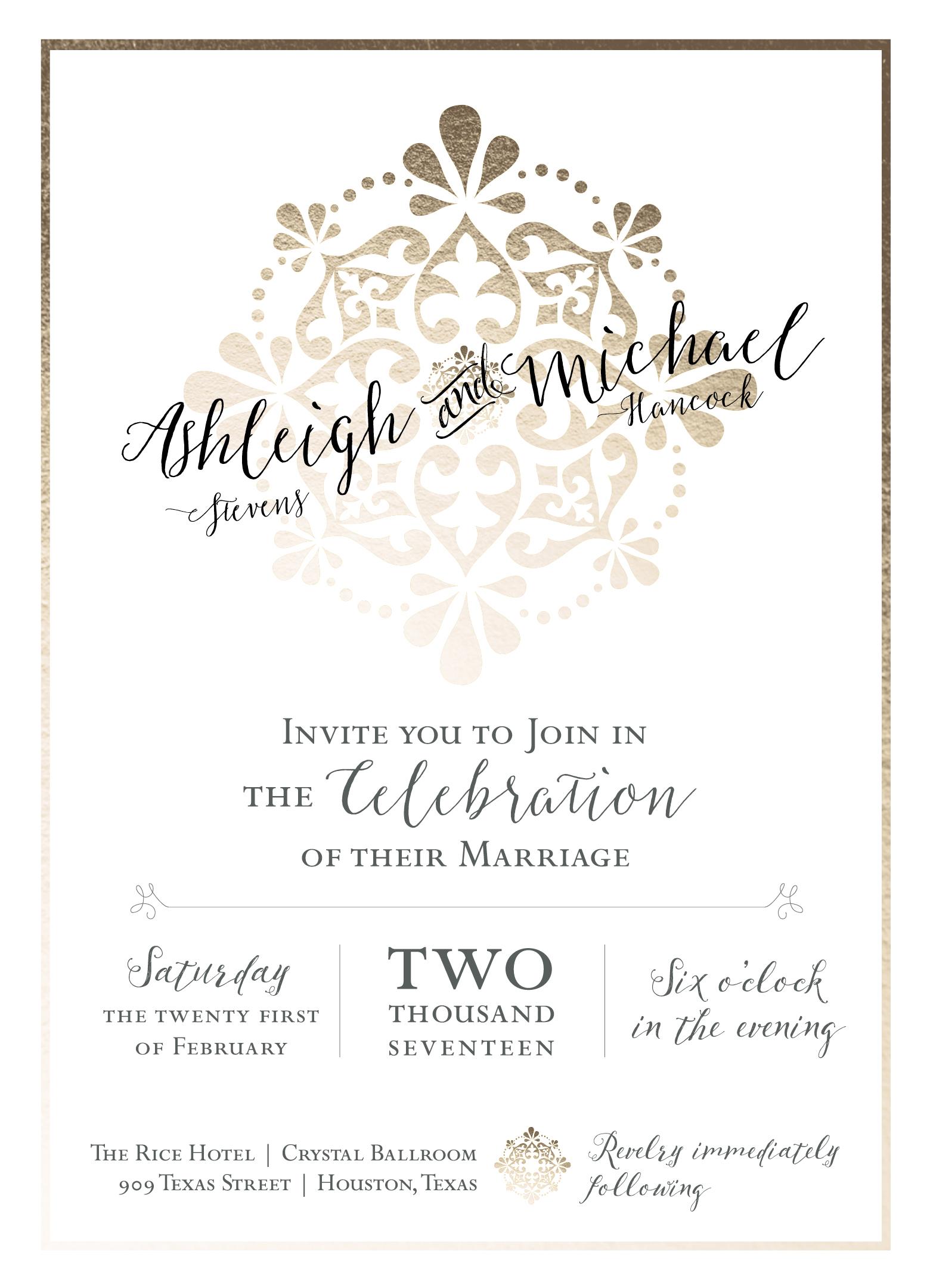 Revelry Wedding Invitation