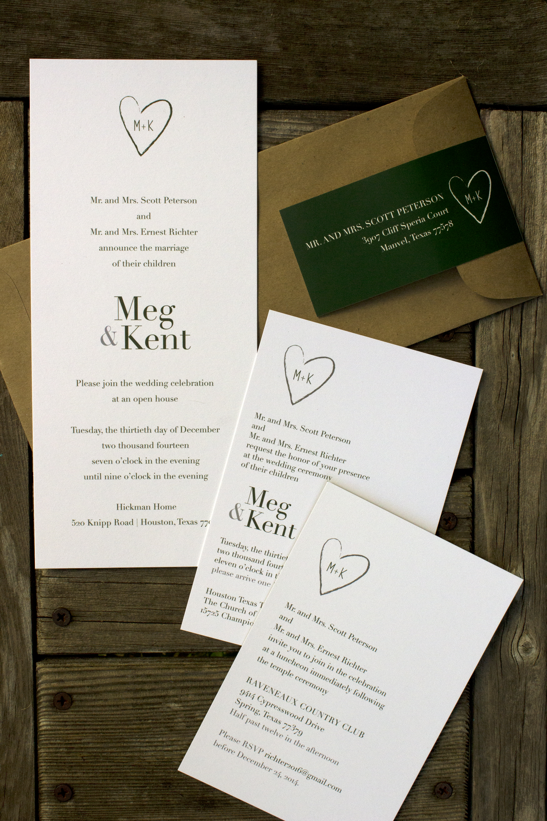 Rustic Winter Heart Wedding