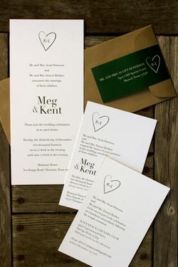 Rustic Winter Heart Wedding
