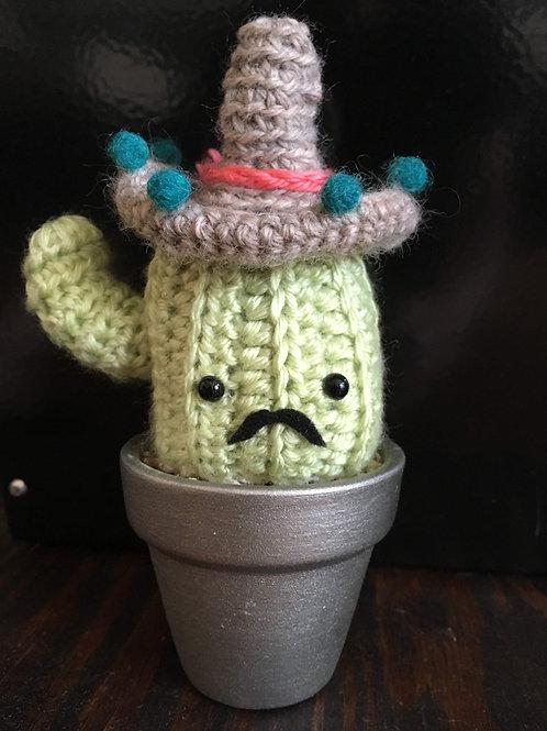 Mr. Mariachi Cactus Amigurumi