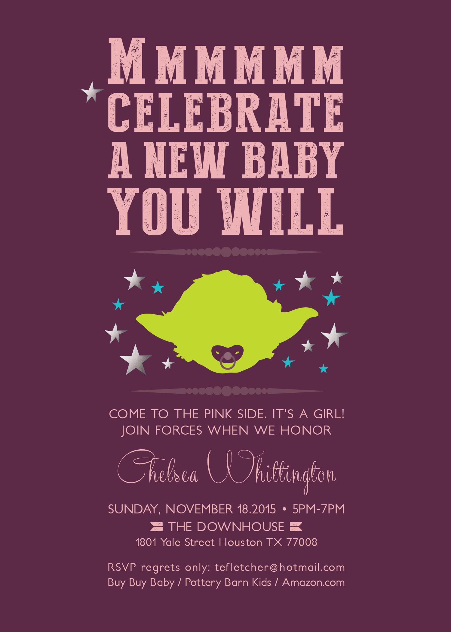 Baby Jedi Baby Shower