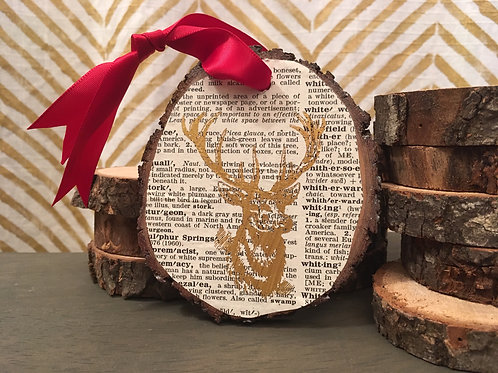 Literary Foil Wooden Ornament