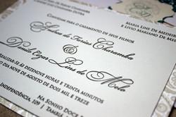 Satin + Cream Letterpress Wedding