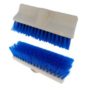 BB Dual Surface Brush Blue w/ Wood Handle