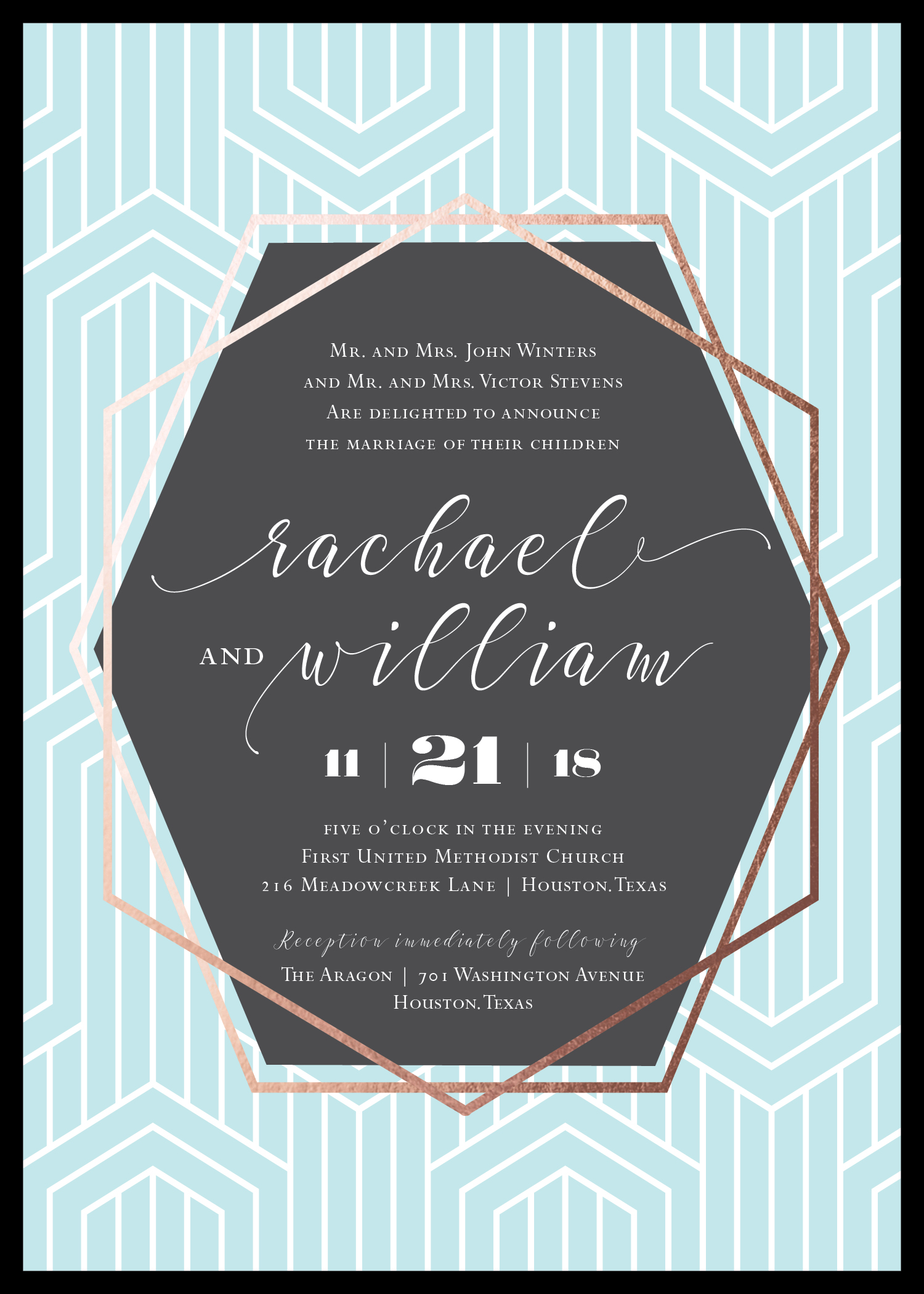 Breakfast at Tiffanys Wedding Invite