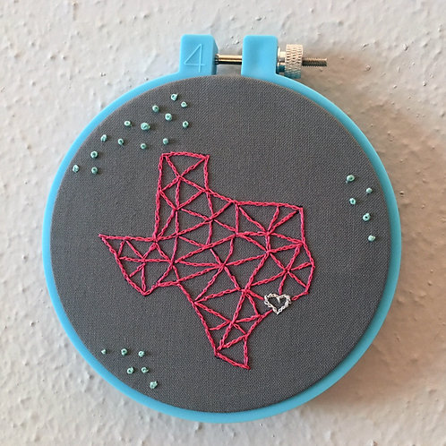 Houston Texas LOVE Stitchery