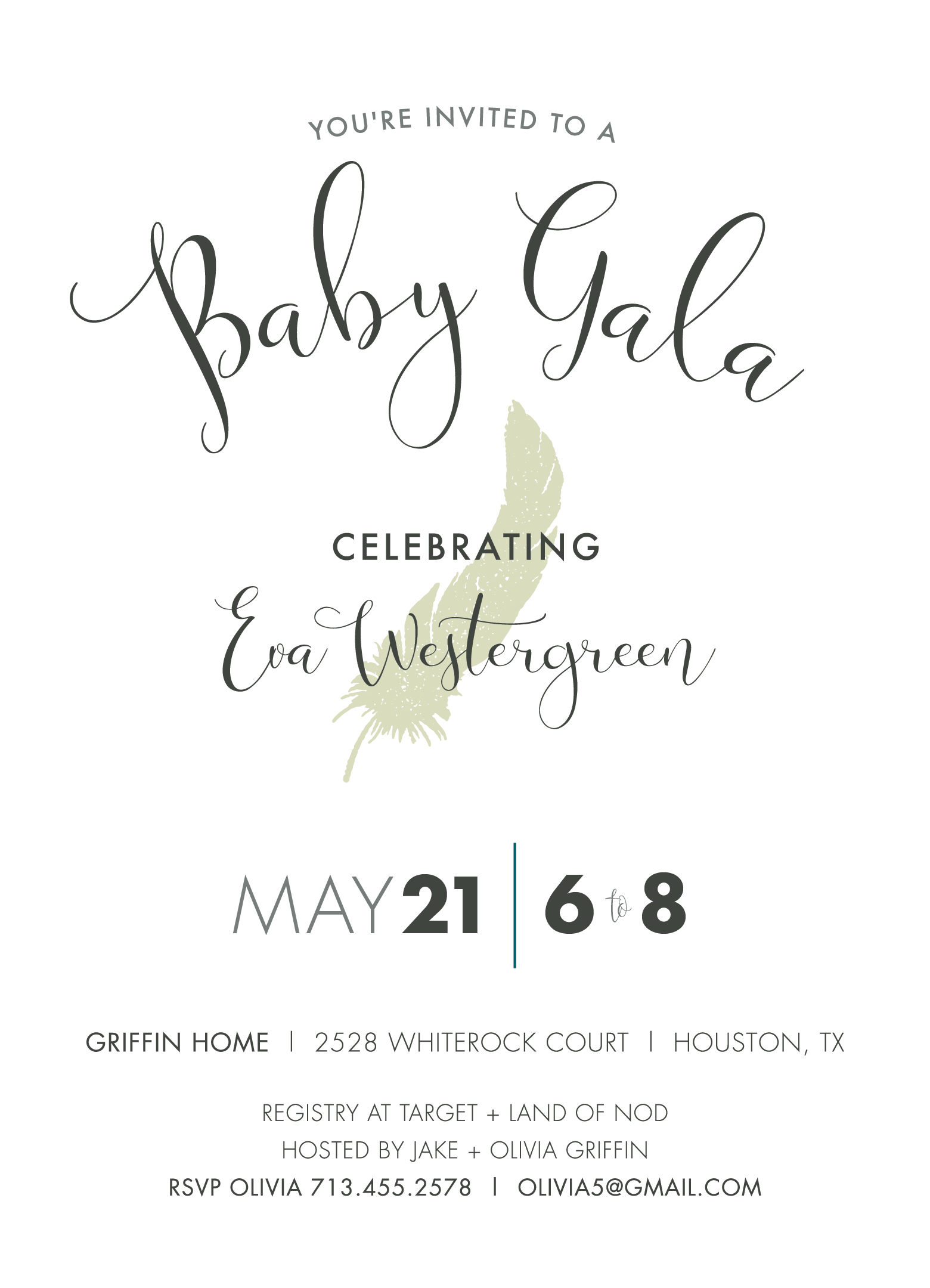 Goo Goo Gala Baby Shower Invite