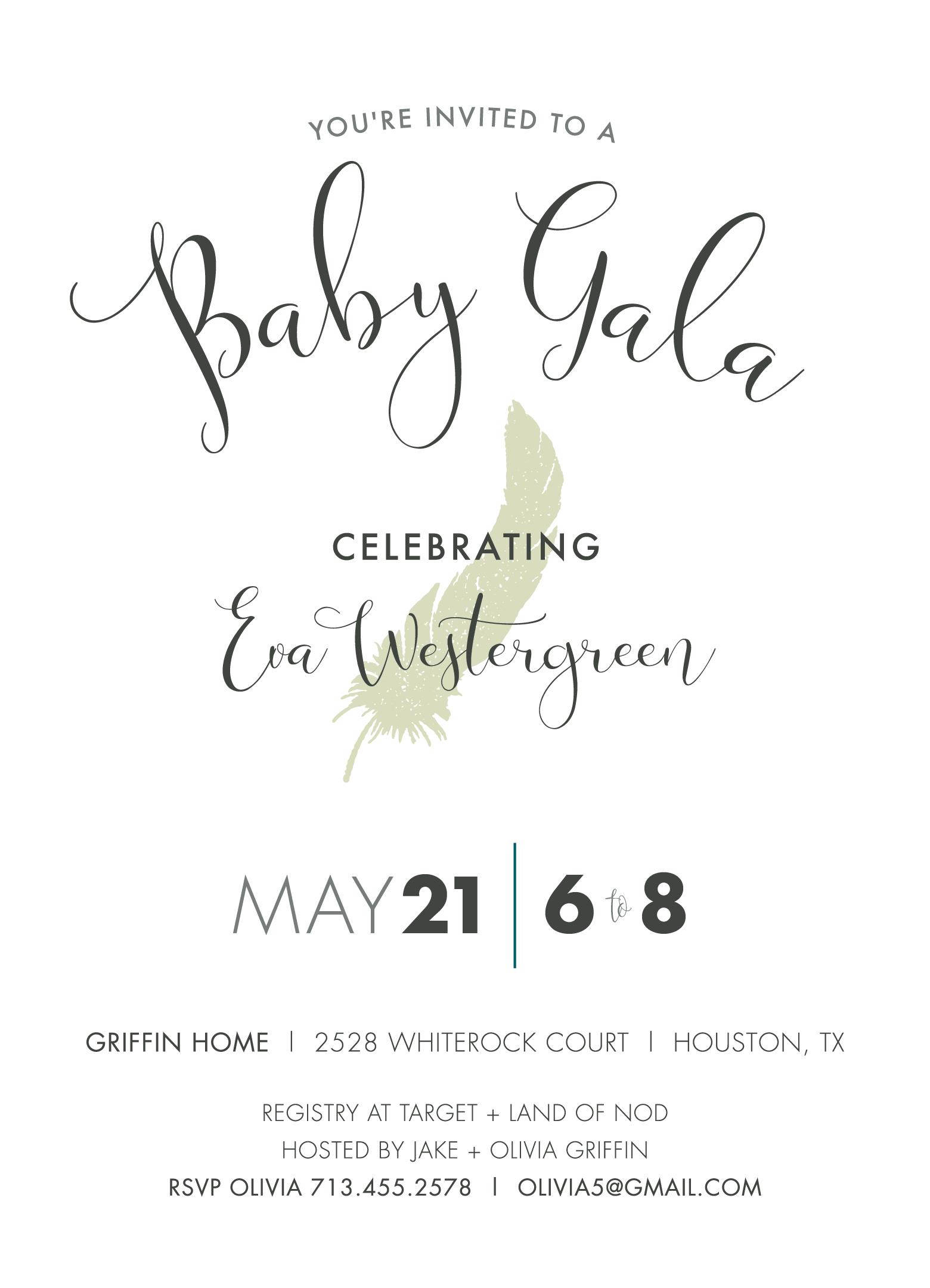 Goo Goo Gala Baby Shower Invite