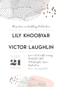 Make Me Blush Wedding Invite