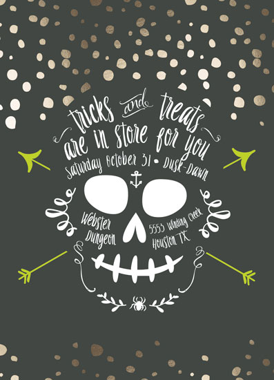 SkeleTreats Party Invitation