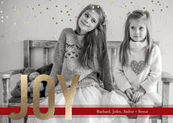 JOY gold foil Christmas Card