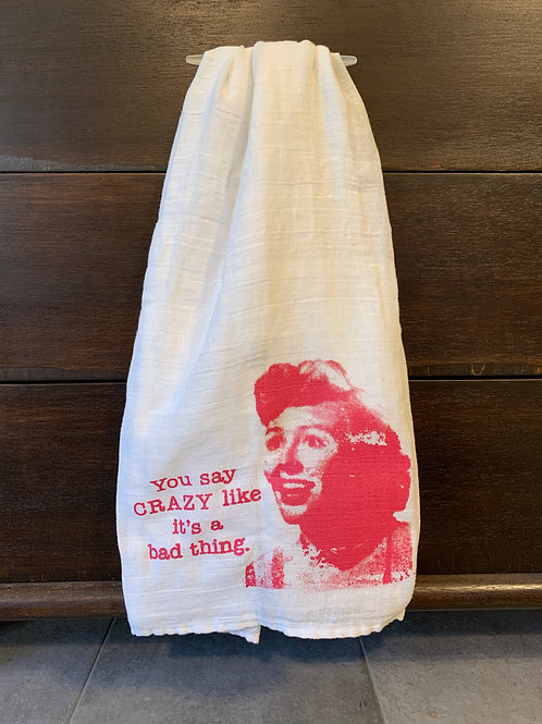 Crazy Tea Towel