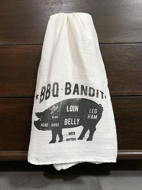 BBQ Bandit Tea Towel