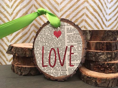 Literary Foil Wooden Ornament