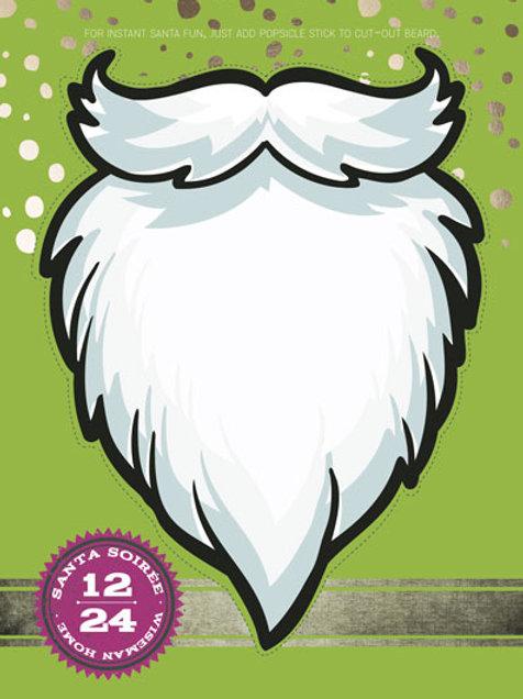 santa on a stick beard hipster christmas card