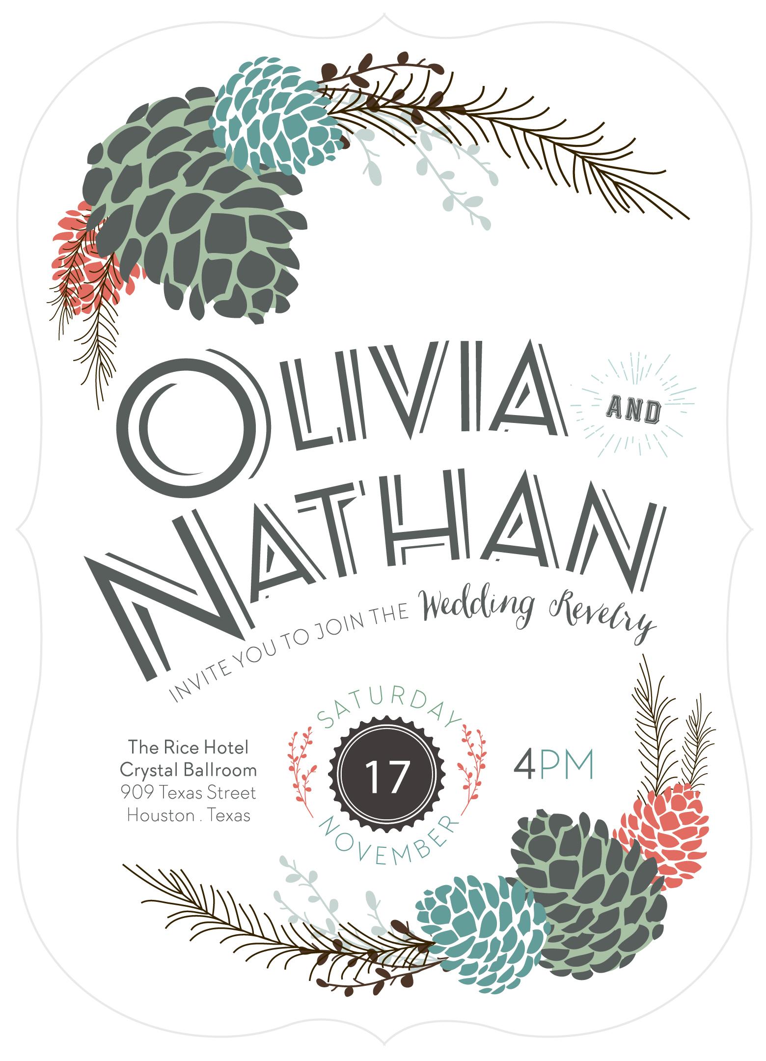 Fall of Surprises Wedding Invitation