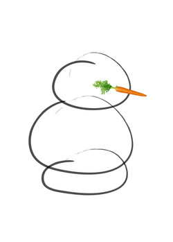 Modern Snowman Christmas Card
