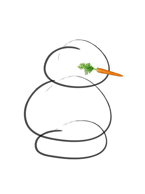 snowman christmas card modern carrot