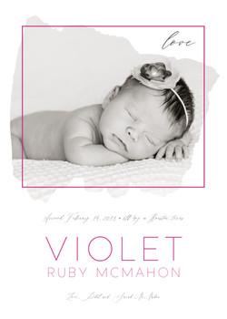 Modern Baby Announcement