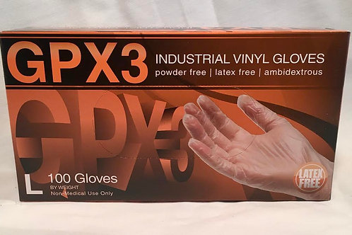 PRI Vinyl Glove Large Powder Free 100ct Box