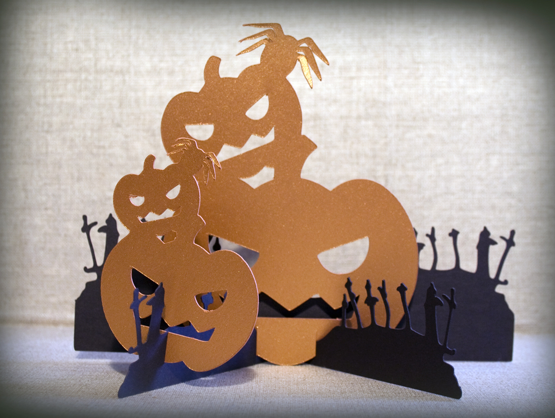 Pumpkin Graveyard Pop-Up Card