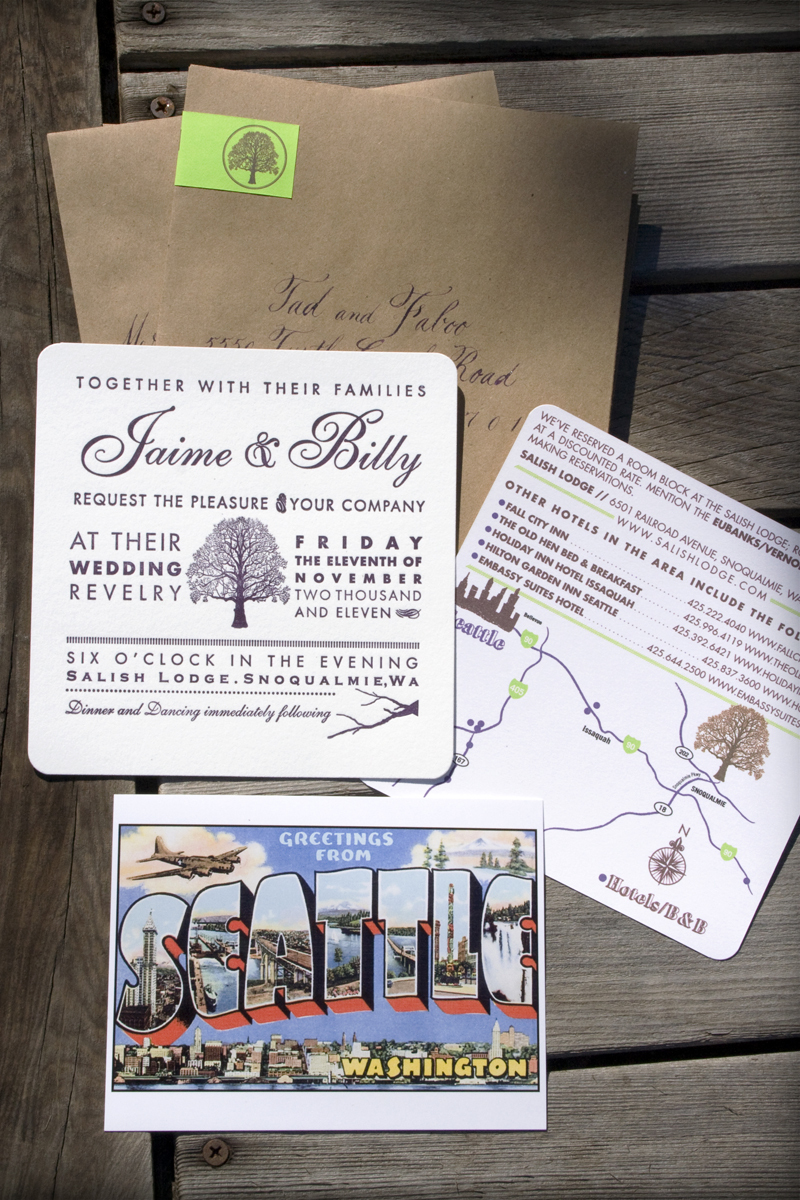 Treehouse Letterpress Wedding