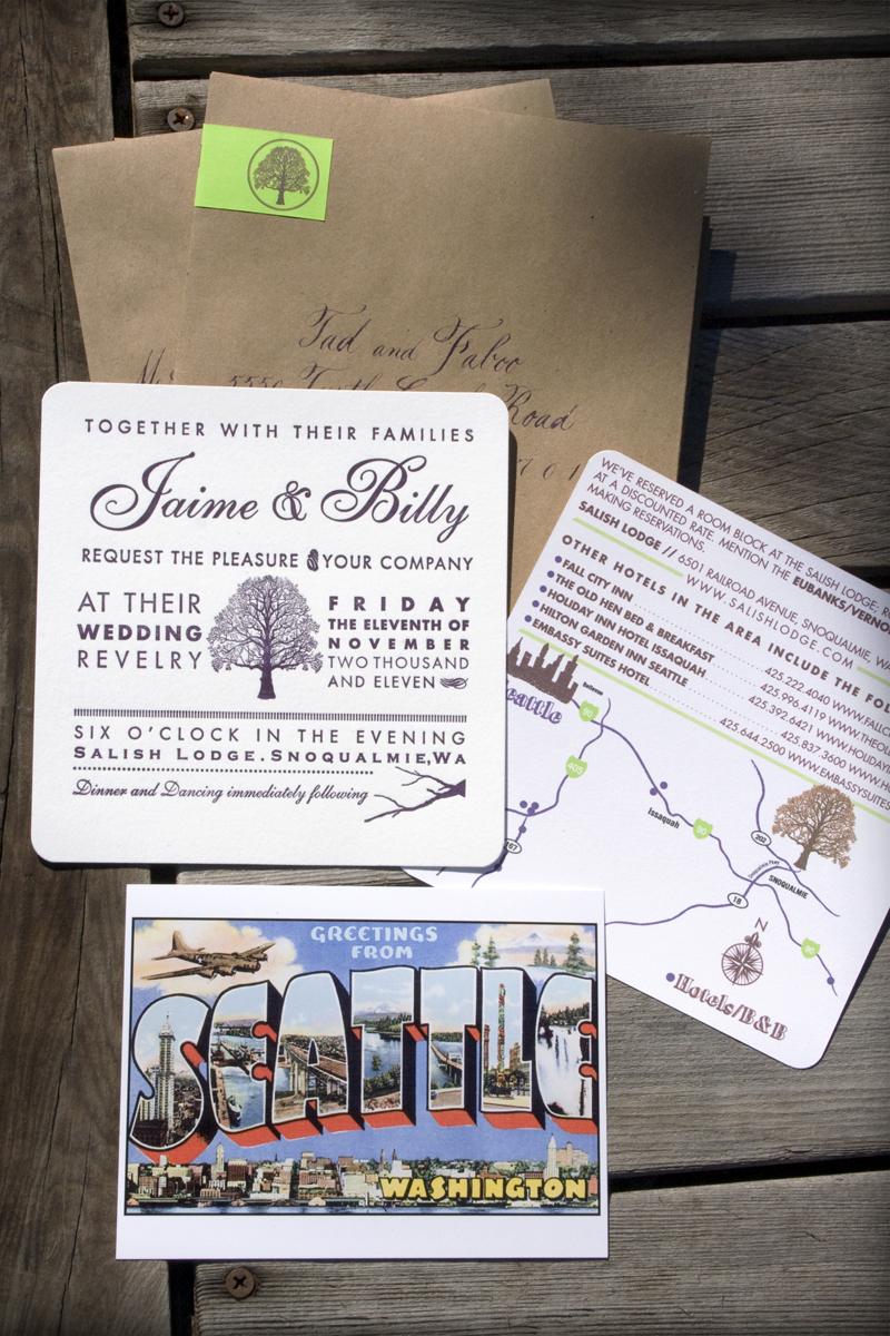 Treehouse Letterpress Wedding