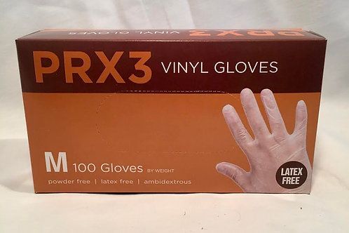 PRI Vinyl Glove Medium Powder Free 100ct Box