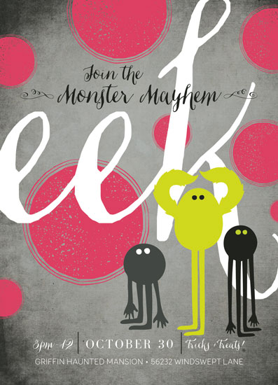 Monster Mayhem Party Invitation