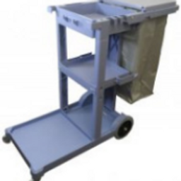 "BB Janitors Cart w/ 8"" rear wheels & 4"" front wheels and Laundry Bag"