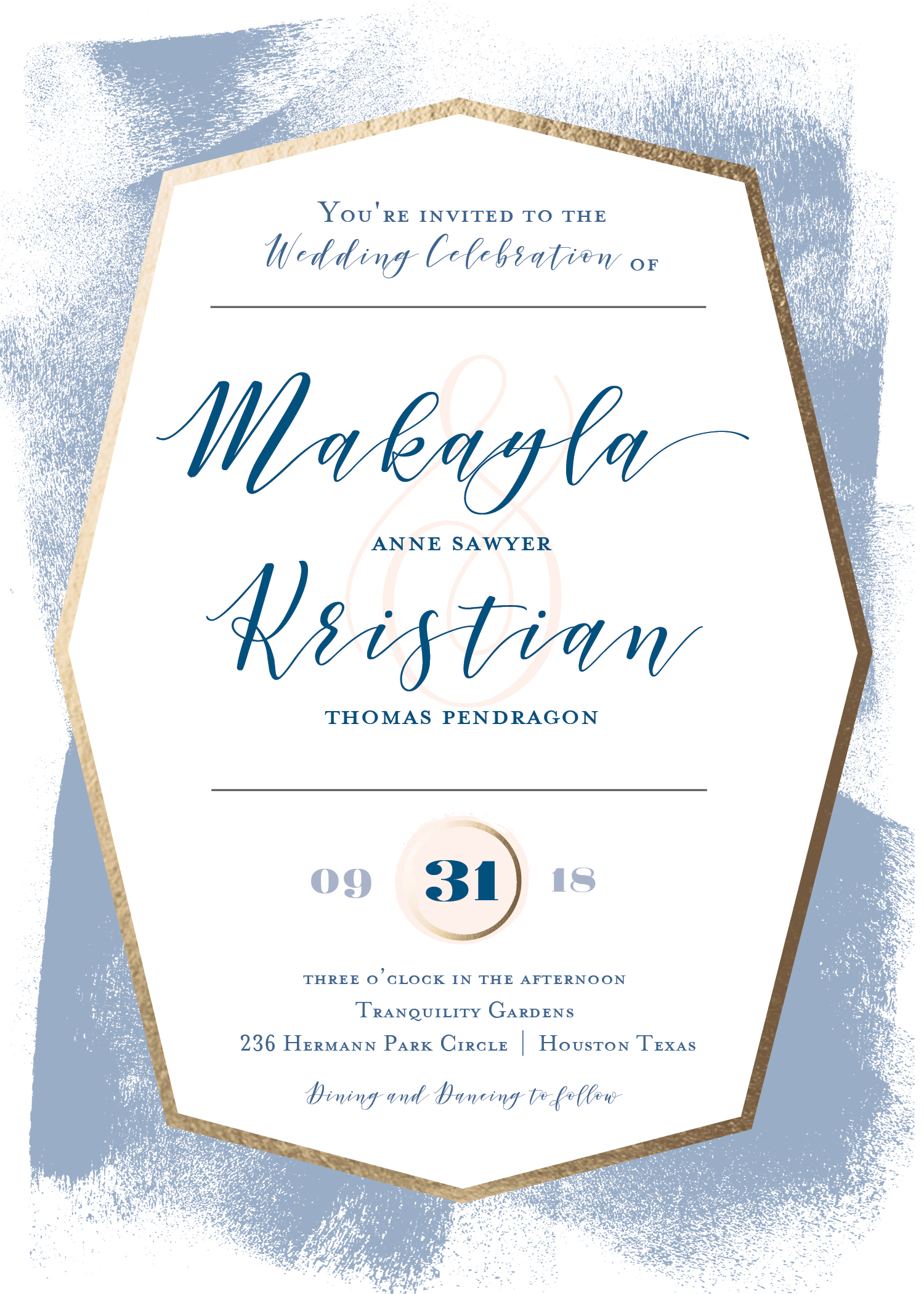 Gallery Gala Wedding Invitation