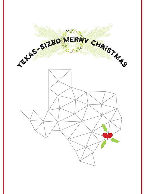 Texas Christmas card polygon geometric