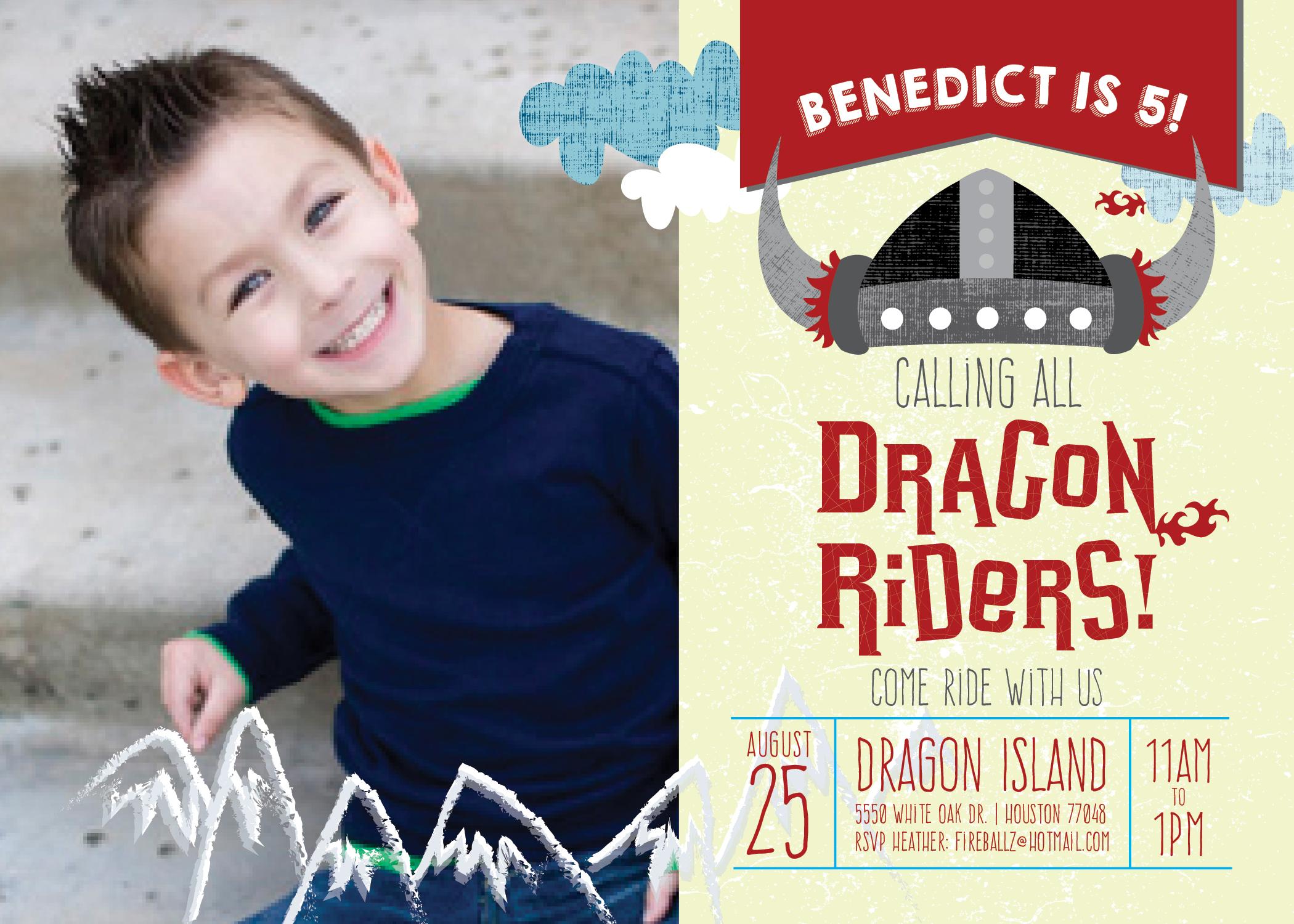 DragonRider Selfie Kids' Birthday