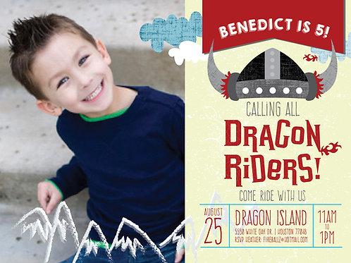 Dragonrider Selfie Birthday Invite
