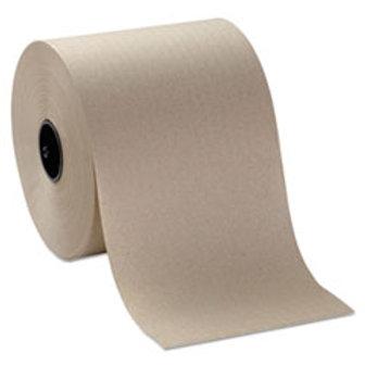 PRI Natural Hardwound Towel Roll 800' - 6 Rolls / Case