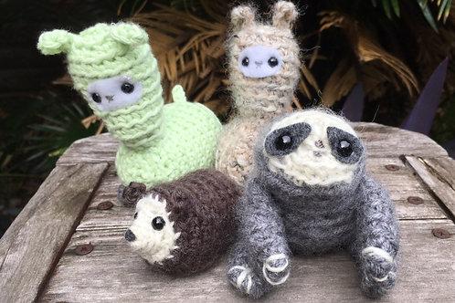 Sloth and the Gang Amigurumi