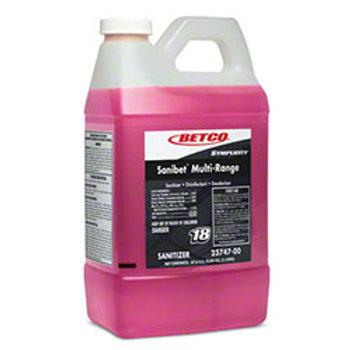 BETCO Sanibet Food Service Disinfectant & Deodorizer 2 Liter - 4 / Case